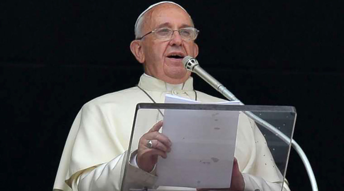 Blasphemy is the gravest sin, Pope Francis says