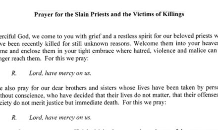Manila archdiocese releases prayer for victims of killings