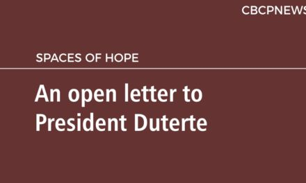 An open letter to President Duterte