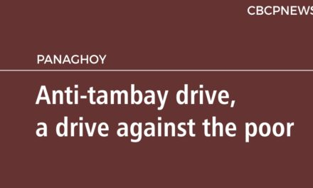 Anti-tambay drive, a drive against the poor