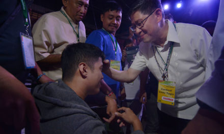 Cardinal Tagle reaches out to PWDs  at PCNE