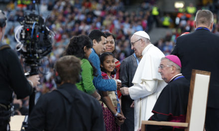Families called to share joy, love, life with the world, pope says