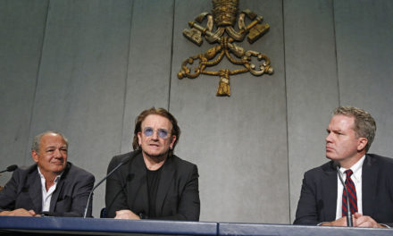 Irish singer Bono calls pope 'extraordinary man for extraordinary times'