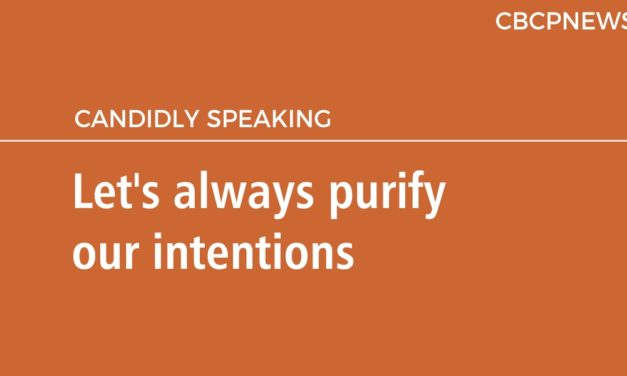 Let's always purify our intentions