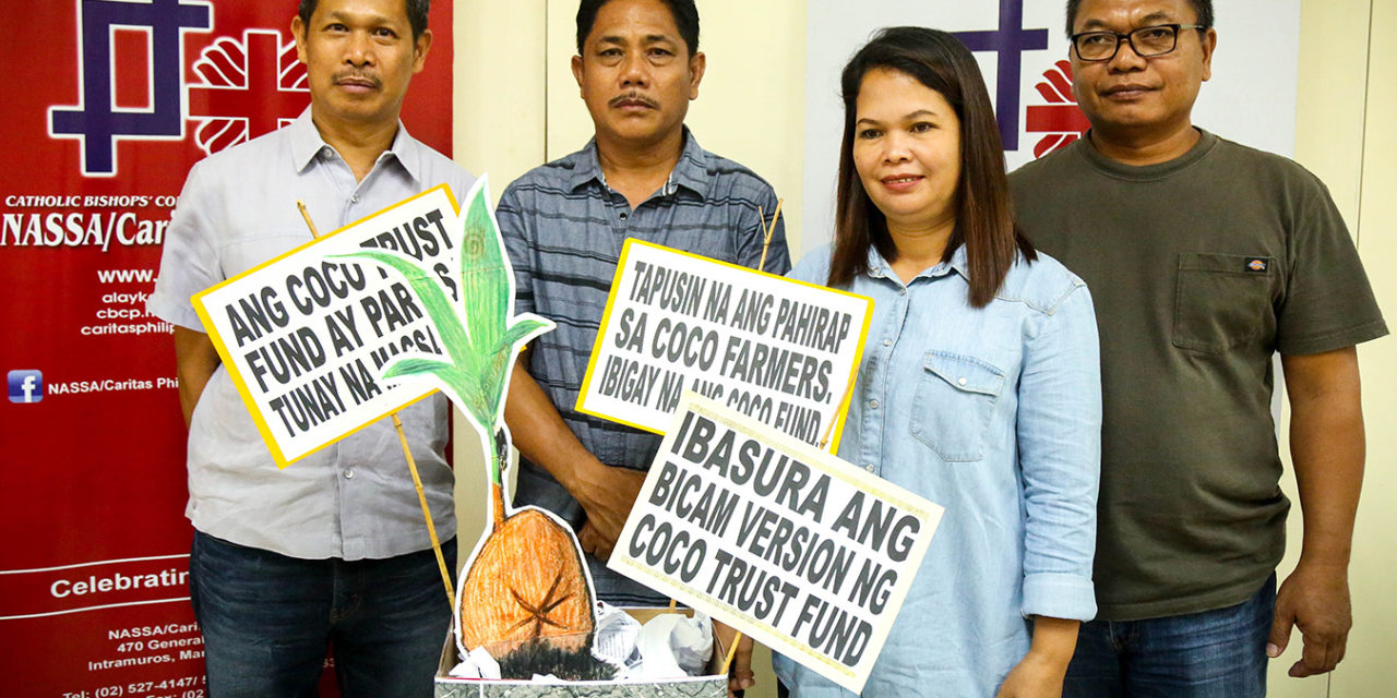 Caritas demands 'pro-farmer' version of Coco Trust Fund Law