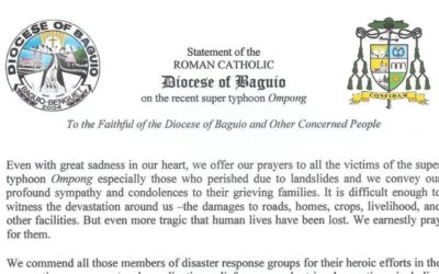 Statement of the Roman Catholic Diocese of Baguio on the recent super typhoon Ompong