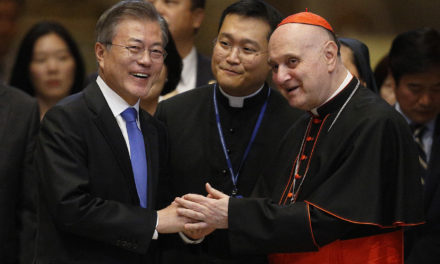 Pope, meeting South Korean leader, says he's open to visiting North