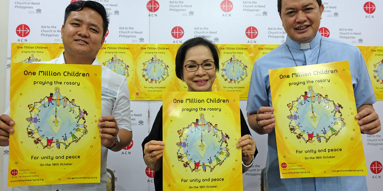 Drug war orphans among 'one million children praying the rosary' for peace