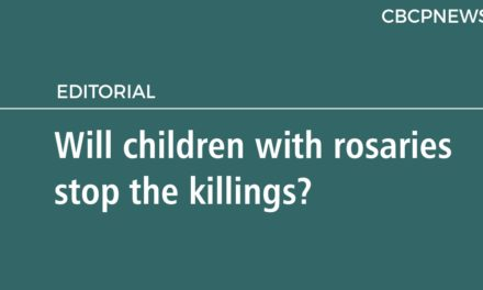Will children with rosaries stop the killings?