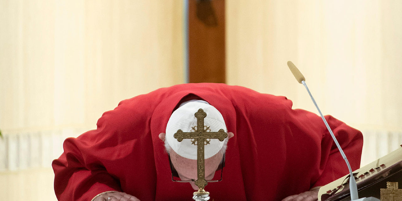 Where there are lies, there can be no love, pope says