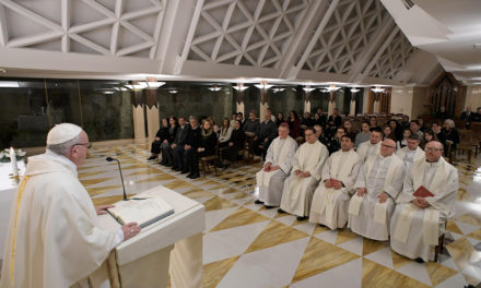 Love means never turning away from someone in need, pope says