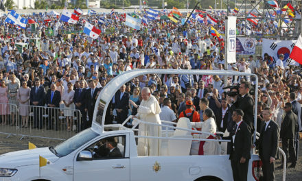Global encounter of WYD challenges nationalism, walls, pope says