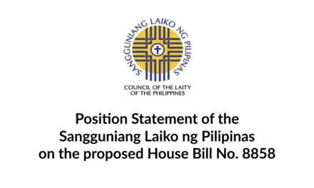 Position Statement of the Sangguniang Laiko ng Pilipinas on the proposed House Bill No. 8858