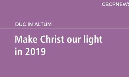 Make Christ our light in 2019