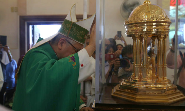 LOOK: Heart relic of St. Camillus visits Antipolo Cathedral