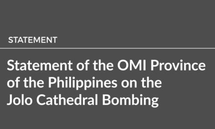 Statement of the OMI Province of the Philippines on the Jolo Cathedral Bombing