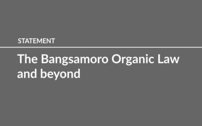 The Bangsamoro Organic Law and beyond