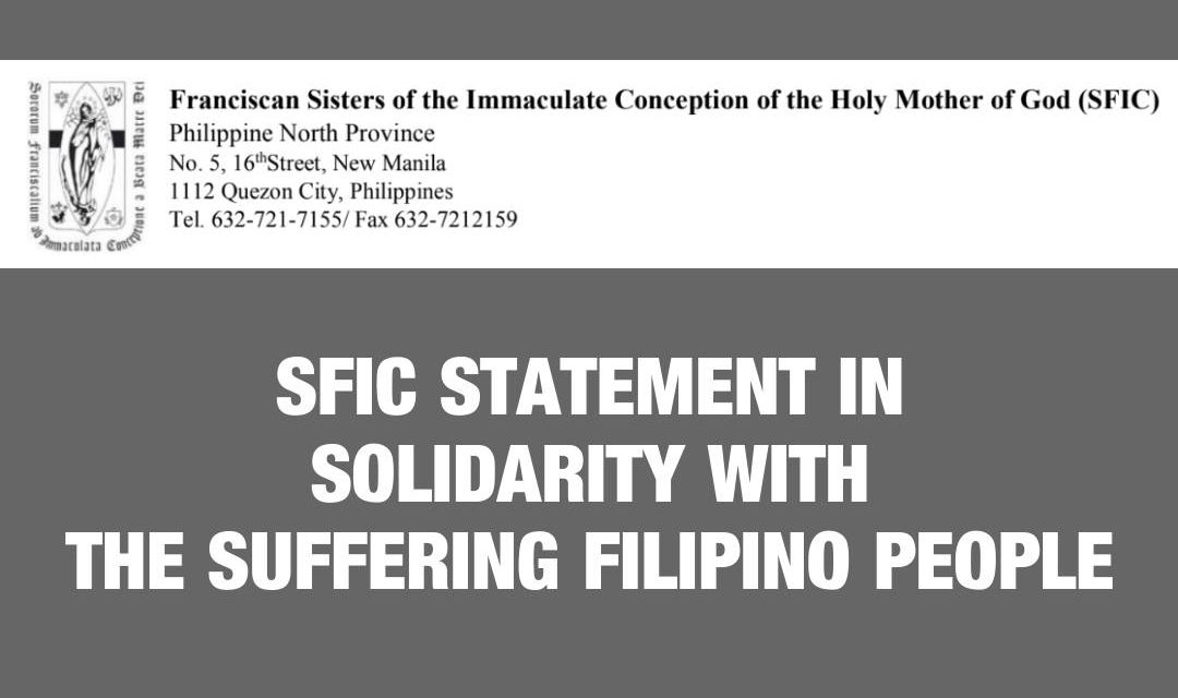 SFIC Statement in Solidarity with the Suffering Filipino People