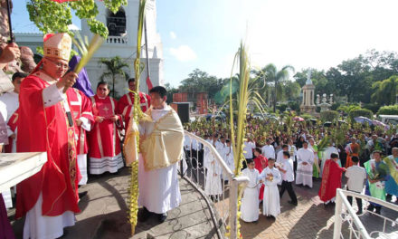 Archbishop Palma leads Palm Sunday celebration in Cebu