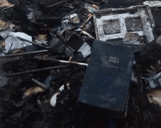 Bible saved from fire in Puerto Princesa