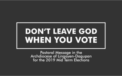 DON'T LEAVE GOD WHEN YOU VOTE