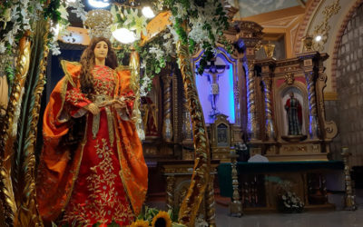 """Pililla Shrine holds first """"indakan"""" in honor of patroness"""