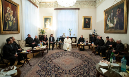 Church wounded by internal tensions, pope tells Jesuits in Romania