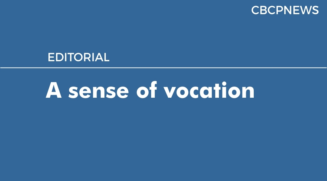 A sense of vocation