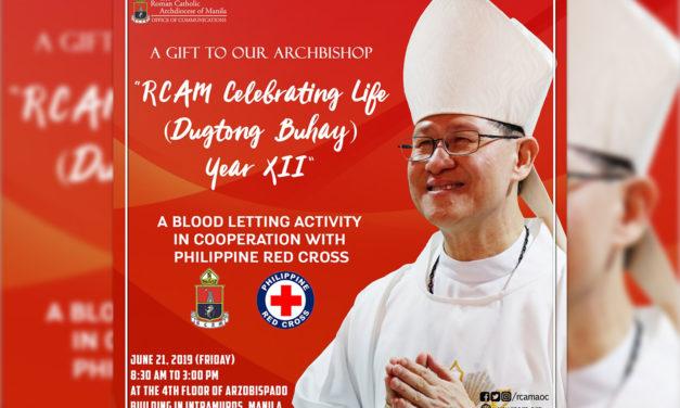 Blood donation to mark Cardinal Tagle's 62nd birthday