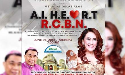 Ai-ai Delas Alas to lead church fundraising concert