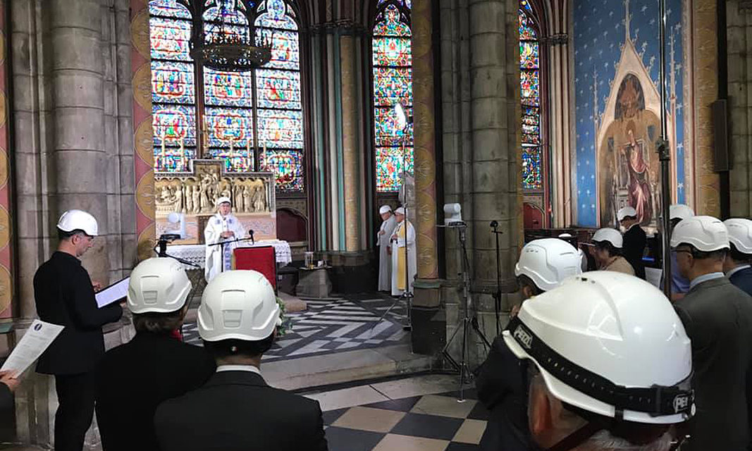 Paris archbishop celebrates first Mass in Notre Dame since fire