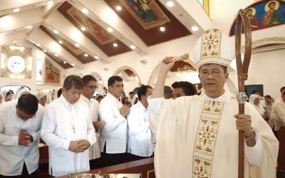 Bishop praises unity to rebuild Bataan church ravaged by storms