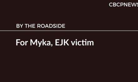 For Myka, EJK victim