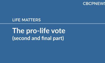The pro-life vote