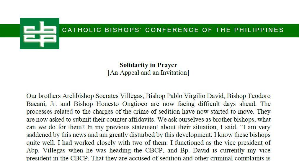 Solidarity in Prayer