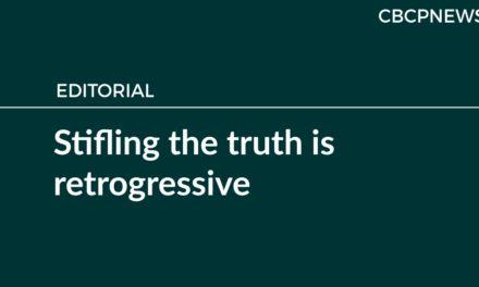 Stifling the truth is retrogressive
