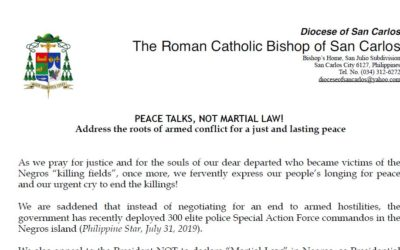 PEACE TALKS, NOT MARTIAL LAW!