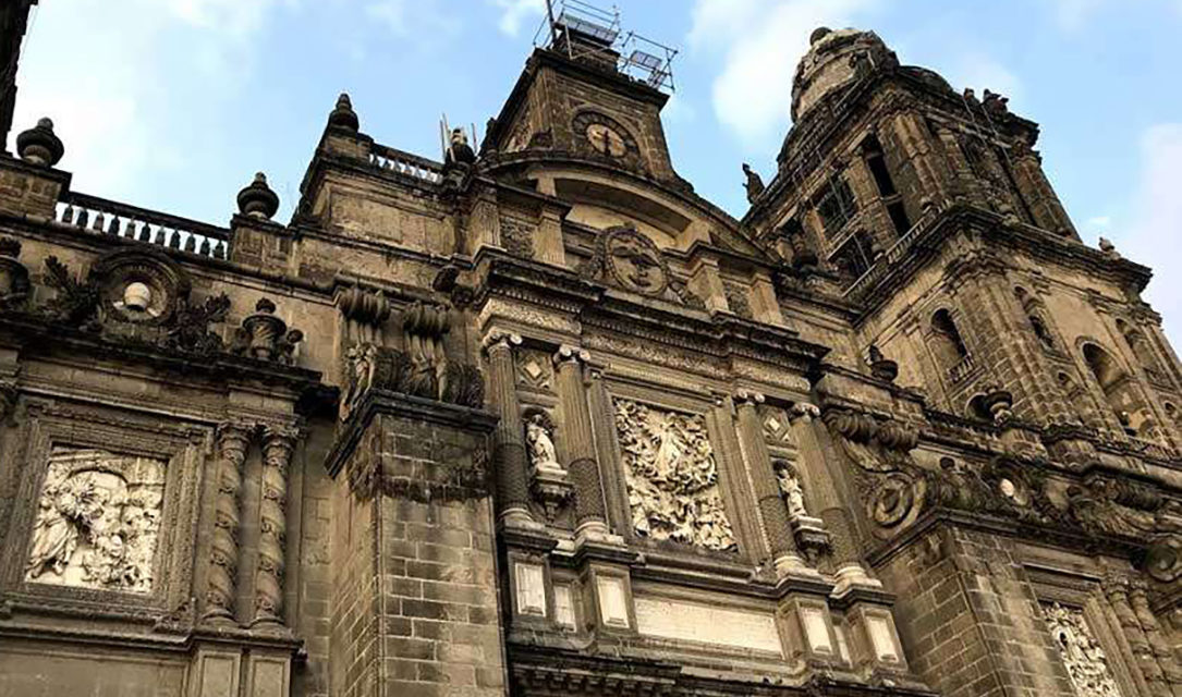 Abortion rights activists try to burn Mexico City cathedral