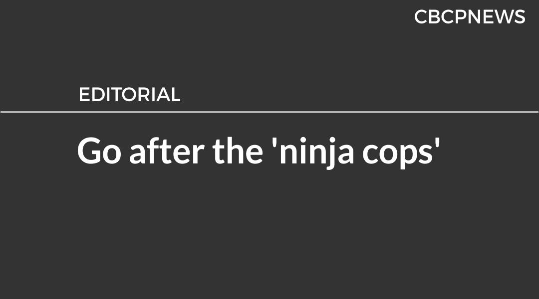 Go after the 'ninja cops'