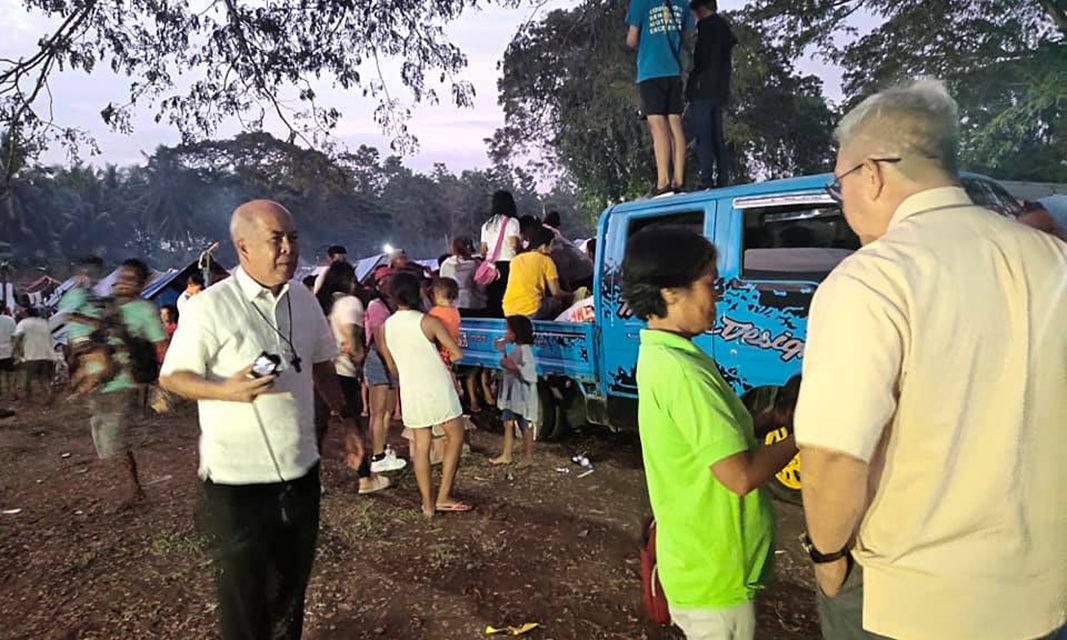 CBCP head visits quake victims in North Cotabato