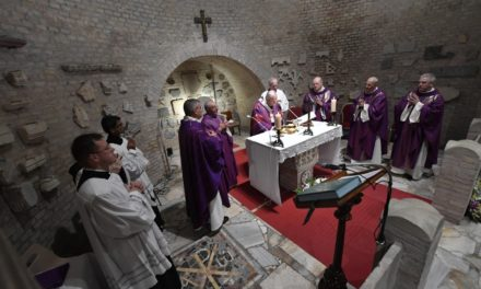Pope Francis celebrates All Souls' Day Mass in Rome catacombs