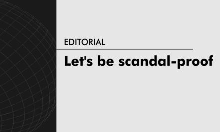 Let's be scandal-proof