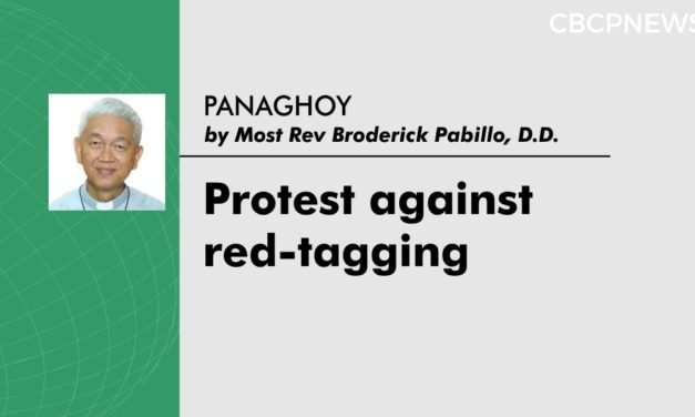 Protest against red-tagging