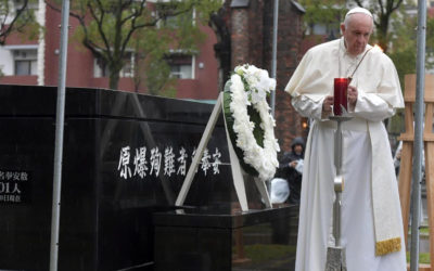At Nagasaki ground zero, pope denounces 'unspeakable horror' of nuclear weapons