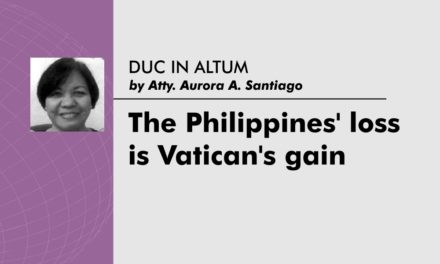 The Philippines' loss is Vatican's gain