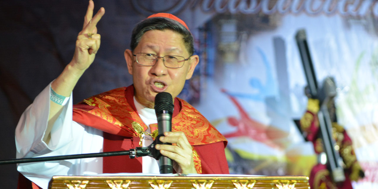 Cardinal Tagle leads prayers for peace amidst tension in Middle East