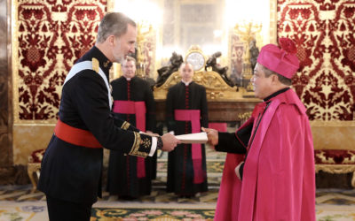 Archbishop Auza assumes post as pope's envoy to Spain