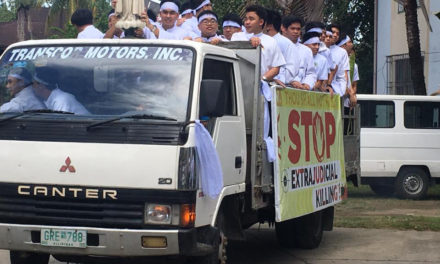 Iloilo archdiocese holds protest caravan vs killings, death penalty