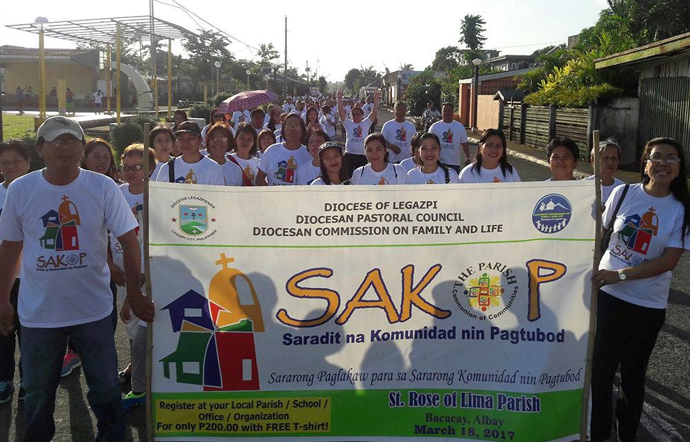 Legazpi diocese holds simultaneous 'SAKOP Walk'
