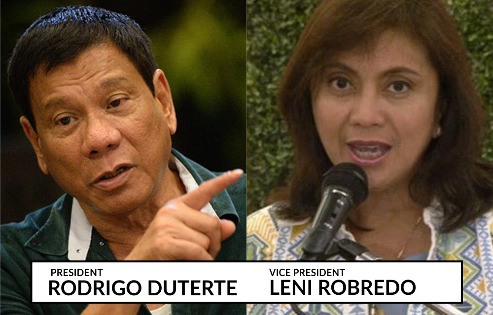 Bishop opposes impeaching Duterte, Robredo